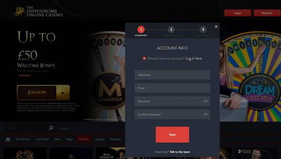 Hippodrome Casino desktop screenshot-4