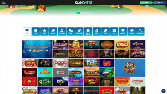 Slotnite desktop screenshot-2