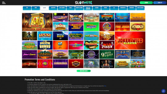 Slotnite desktop screenshot-4