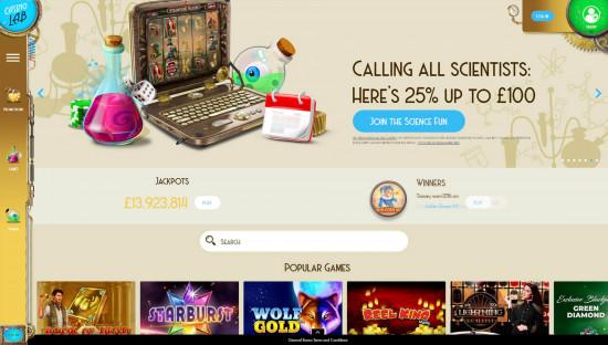 Casino Lab desktop screenshot-1