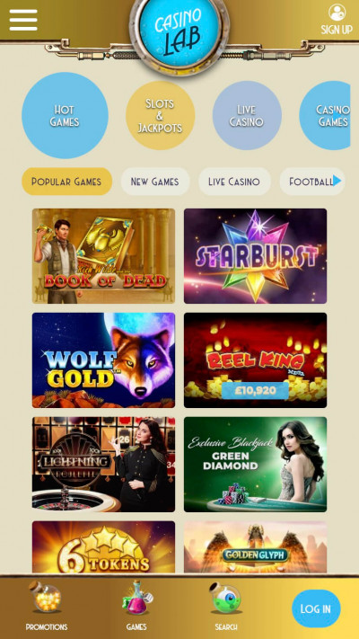 Casino Lab mobile app screenshot-1