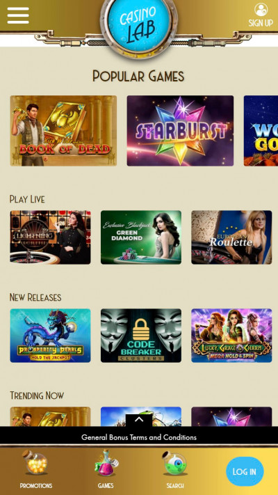 Casino Lab mobile app screenshot-2