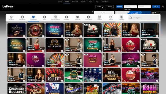 Betway Casino desktop screenshot-1