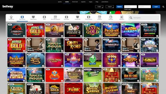 Betway Casino desktop screenshot-2