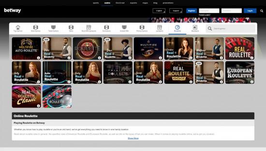 Betway Casino desktop screenshot-3