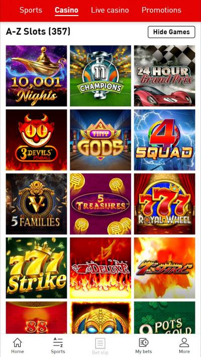 Virgin Bet Casino mobile app screenshot-1