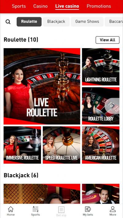Virgin Bet Casino mobile app screenshot-5