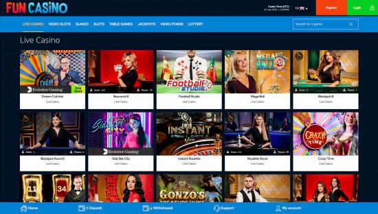 Fun Casino desktop screenshot-1