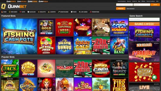 Quinnbet Casino desktop screenshot-2