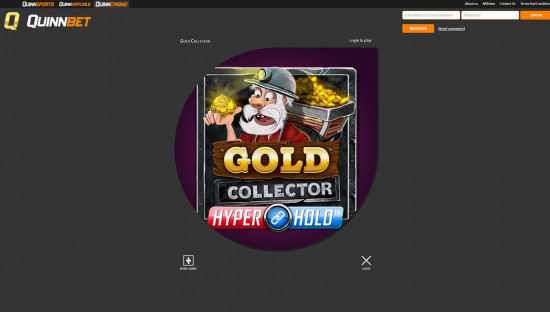 Quinnbet Casino desktop screenshot-3