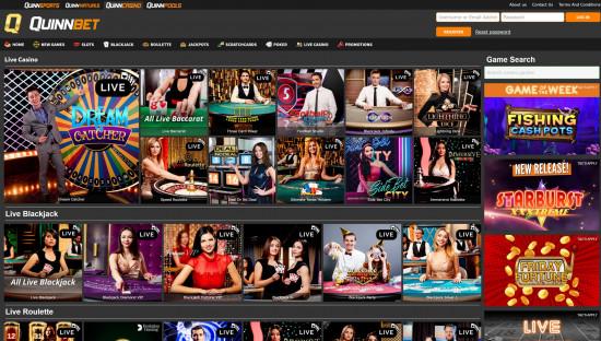 Quinnbet Casino desktop screenshot-5