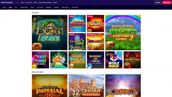 Party Casino desktop screenshot-1