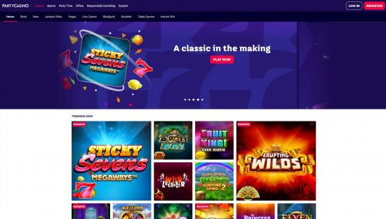 Party Casino desktop screenshot-2