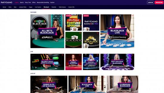 Party Casino desktop screenshot-3