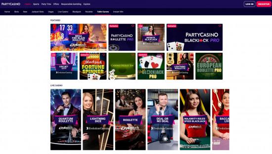 Party Casino desktop screenshot-4