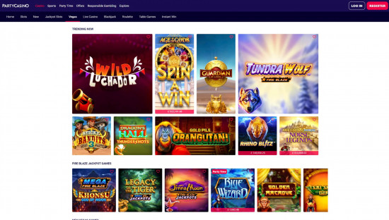 Party Casino desktop screenshot-5