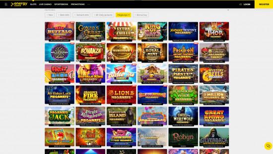 EnergyCasino desktop screenshot-4