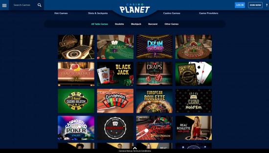 Casino Planet desktop screenshot-5
