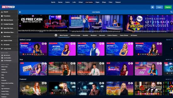 Betfred Casino desktop screenshot-2
