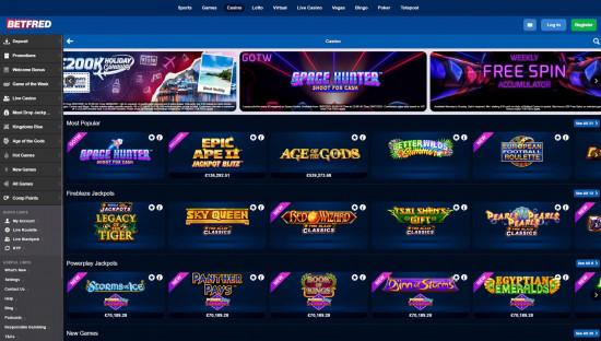 Betfred Casino desktop screenshot-3