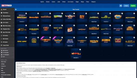 Betfred Casino desktop screenshot-4