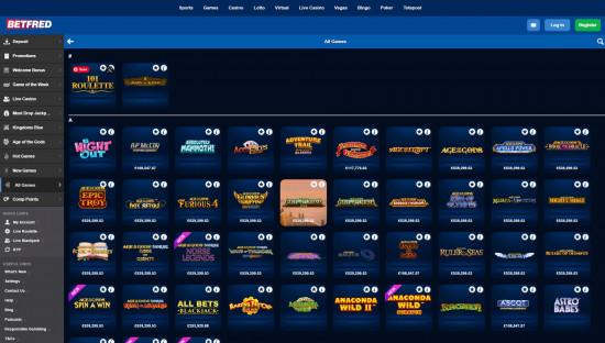 Betfred Casino desktop screenshot-5