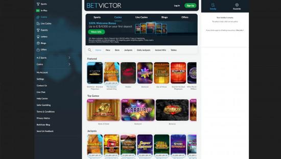 BetVictor Casino desktop screenshot-2
