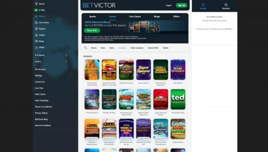 BetVictor Casino desktop screenshot-4