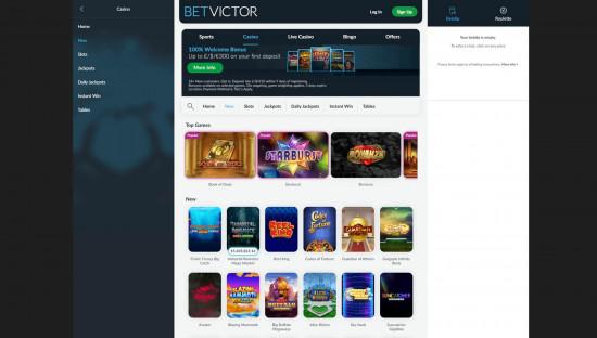 BetVictor Casino desktop screenshot-5