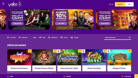 Yako Casino desktop screenshot-5