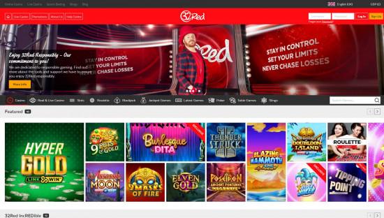 32Red Casino desktop screenshot-1
