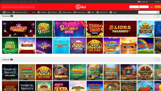 32Red Casino desktop screenshot-3