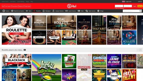 32Red Casino desktop screenshot-4