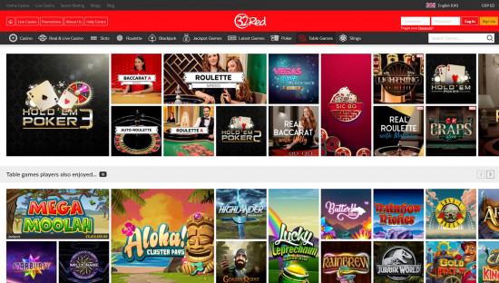 32Red Casino desktop screenshot-5