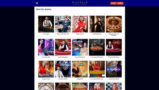 Mayfair Casino desktop screenshot-5