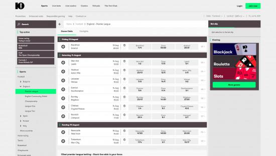 10bet desktop screenshot-1