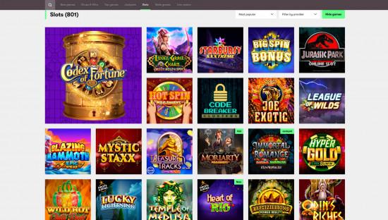 10bet Casino desktop screenshot-2