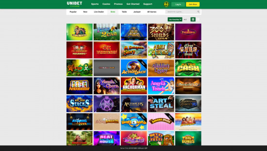 Unibet Casino desktop screenshot-1