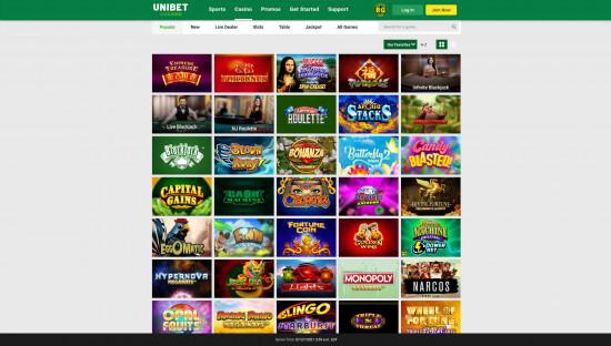 Unibet Casino desktop screenshot-2