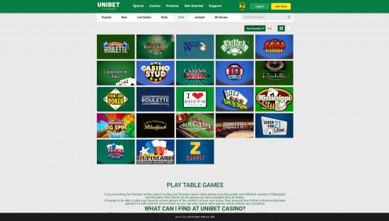 Unibet Casino desktop screenshot-3