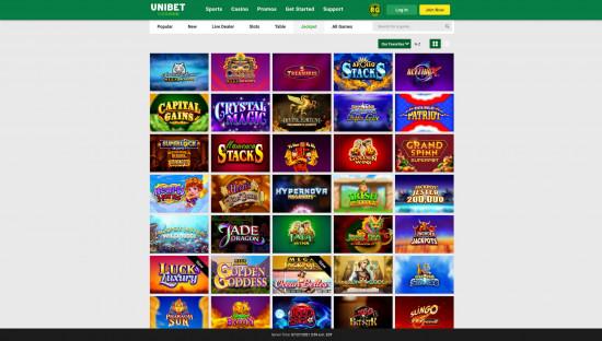 Unibet Casino desktop screenshot-4