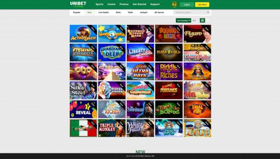 Unibet Casino desktop screenshot-5